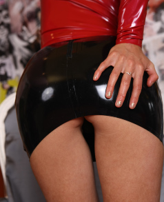 Girls wearing pvc